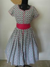 Buy 1950's Party Dress - Pink Full Skirt
