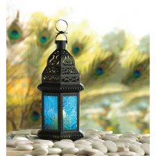 Buy Blue Glass Moroccan Style Lantern