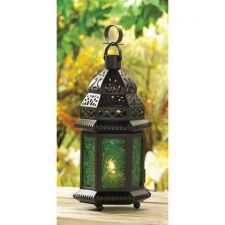 Buy Green Glass Moroccan Lantern