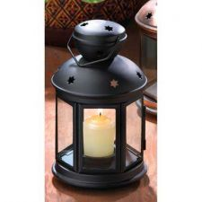Buy Black Colonial Candle Lamp