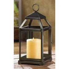 Buy Rustic Silver Contemporary Candle Lantern