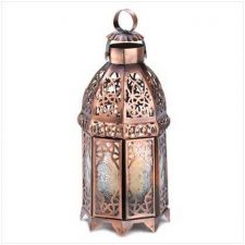Buy Copper Moroccan Candle Lamp