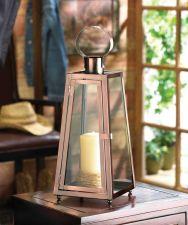 Buy Contemporary Copper Candle Lantern