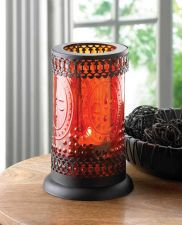 Buy Standing Amber Glass Lantern