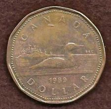 Buy Canada 1989 $1 Dollar, Loonie, Loon Dollar Coin