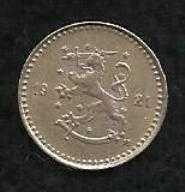 Buy Finland 25 Pennia 1921H Rampant Lion Shield Scandinavian Coin - Super Coin!