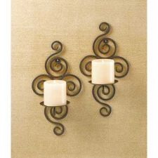 Buy Scrollwork Candle Sconces