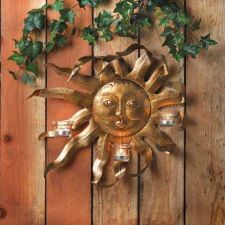 Buy Smiling Sun Candle Sconce