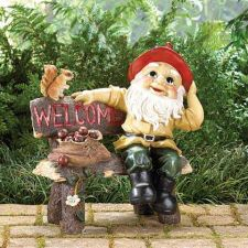 Buy Garden Gnome Greeting Sign