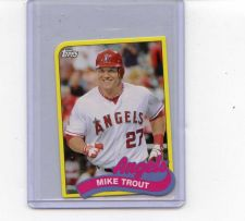 Buy 2014 TOPPS MINI CARD OF MIKE TROUT ANGELS STAR PLAYER NEST IN BASEBALL SEE PIC