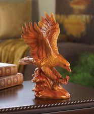 Buy Faux Wooden Eagle Statue
