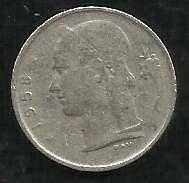Buy 1958 Belgium 1 Franc Copper Nickel World Coin KM142.1 Belgique Crown Cornucopia