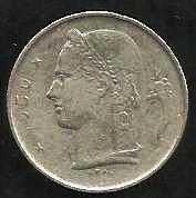 Buy 1950 Belgium 1 Franc Copper Nickel World Coin Belgique Crown Cornucopia