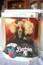 Buy 1991 Happy Holidays Barbie NIB
