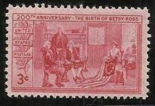 Buy US 3 Cent 1952 Betsy Ross Stamp Scott #1004 - MNH