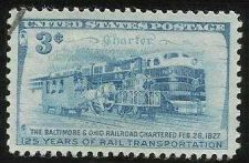 Buy US 3 Cent 1952 B&O Railroad Stamp Scott #1006 - MNH