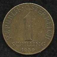 Buy Austria Coin 1-Schilling Aluminum-Bronze 1959