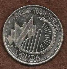 Buy Canadian Millennium Quarter 25 Cents 1999 *** This is Canada! ***
