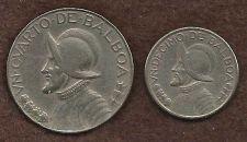 Buy Panama 1/4 Un Cuarto De Balboa 1966 & Panama 1/10 Un Decimo De Balboa 1983 Coins