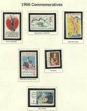 Buy 1966 Commemorative 6 Mint Stamps! Johnny Appleseed, Savings Bonds & More