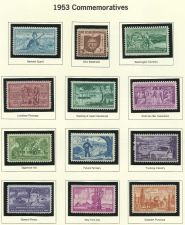 Buy 1953 Commemorativ 12 Mint Stamps! Gen Patton Luisiana Purchase &More 60 yrs old!