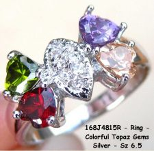 Buy 168J4815R - Ring - MultiColored Topaz Gemstones 925SSP Sz 6.5