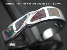 Buy IN819R - Ring - Red Fire Opal 925SSP Sz 8