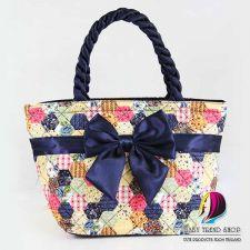 Buy Mini Flower Vintage Tote Bags , Cloth Purses , Handmade Handbags , Fabric Bags
