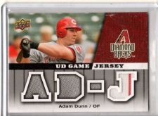 Buy 2009 Upper Deck Adam Dunn Game Used Jersey Reds Diamondbacks White Sox Nationals