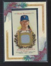 Buy 2007 Topps Hank Blalock Allen & Ginter Mini Game Used Jersey Texas Rangers Rays