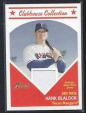 Buy 2008 Topps Heritage Clubhouse Collection Hank Blalock Jersey Relic Rangers