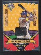 Buy 2006 Topps Update Gary Mathews Jersey Relic Rangers Angels Mets Orioles Padres