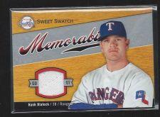 Buy 2007 Sweet Spot Memorabilia Hank Blalock Game Used Jersey Relic Rangers