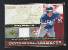 Buy 2007 UD Artifacts Divisonal Hank Blalock Game Used Jersey Relic Rangers SP /199