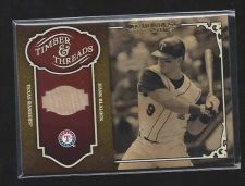 Buy 2004 Donruss Timber & Threads Hank Blalock Game Used Bat Relic Rangers Jersey
