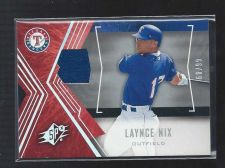 Buy 2005 Upper Deck SPx Laynce Nix Jersey Relic Rangers SP /99 Phillies Reds Brewers