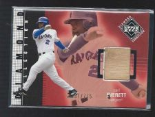 Buy 2002 UD Diamond Connection Carl Everett Bat Jersey Ranger Mariners White Sox