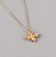 Buy Bumblebee Necklace - 24K Gold Dipped Honey Bee Pendant . Gift Ideas for Her, Fri