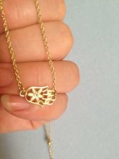 Buy Sideways Hamsa Hand Necklace in Gold Filled