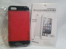 Buy Iphone Slim Case in Red Fits iphone 5/5s with Professional ScreenGuard Dry apply