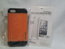 Buy Iphone Slim Case in Orange for iphone 5/5s with Professional ScreenGuard
