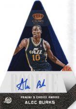 Buy 2012-13 Panini Preferred Choice Award Blue Alec Burks SP /49 AUTO Utah Jazz
