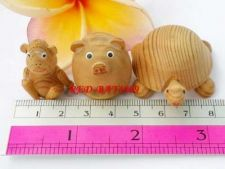 Buy Hand fragrant wood production of small animals pigs small turtles small monkeys
