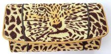 Buy AAA+NEW 100% Stingray fold wallet leopard pattern Handmade