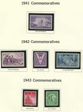 Buy 1941-43 Commemorative Six US Mint Stamps! WWII ERA Win War & More - 70 yrs old!