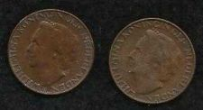Buy Netherlands 1 Cents-Wilhelmina 1948 KM#175 - Two 1 Cent Coins!