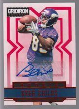 Buy 2012 Panini Gridiron Rookie Autograph Greg Childs RC SP /499 Arkansas Vikings