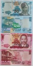 Buy Malawi two piece set, features the Kw.50 + Kw.100 Banknotes. UNC.