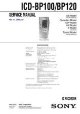 Buy Sony ICD-BP100BP120 Service Information by download Mauritron #237851