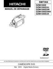 Buy Hitachi DZ-MV580E Service Manual by download Mauritron #262029